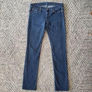 7 For All Mankind Blue Straight Leg Denim Sz 29